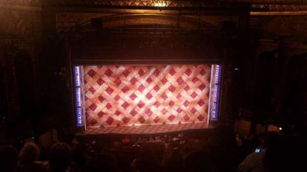 Brooks Atkinson Theatre, section: Rear Mezzanine LC, row: K, seat: 118
