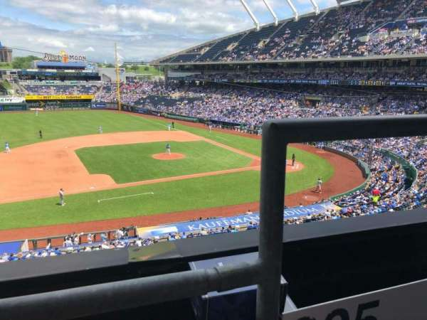 Kauffman Stadium, section: 305, row: A, seat: 12