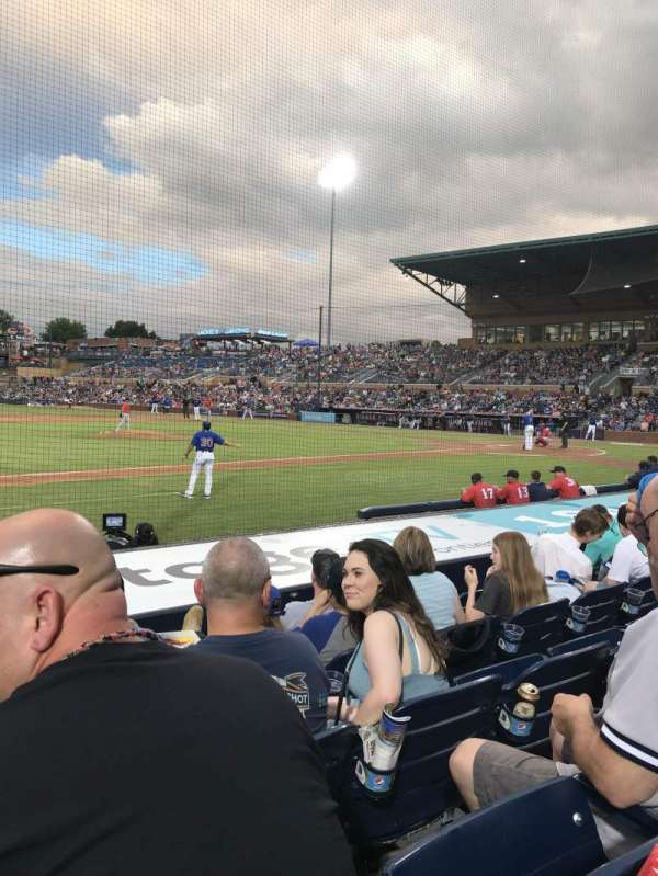 Durham Bulls Athletic Park, section: 111, row: H, seat: 13