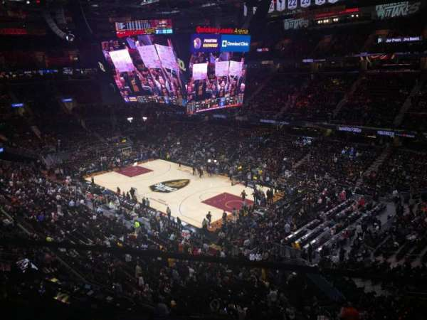 Quicken Loans Arena, section: 230, row: 1, seat: 8