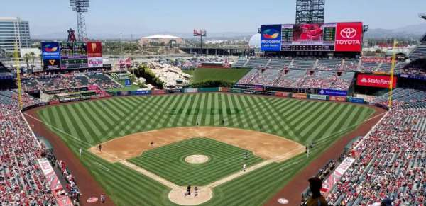 Angel Stadium, section: V521, row: E, seat: 8