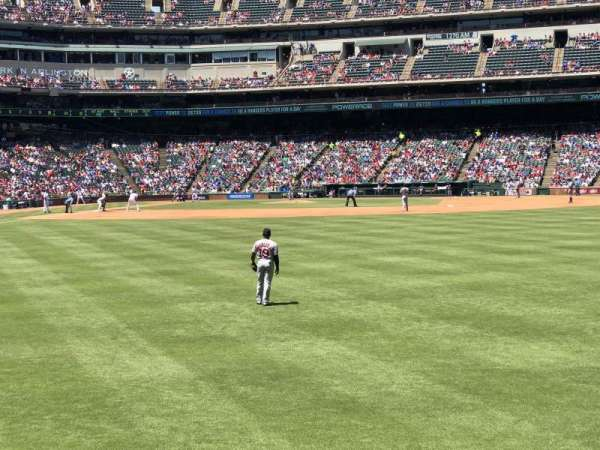 Globe Life Park in Arlington, section: Lower Reserved 46, row: 1, seat: 11