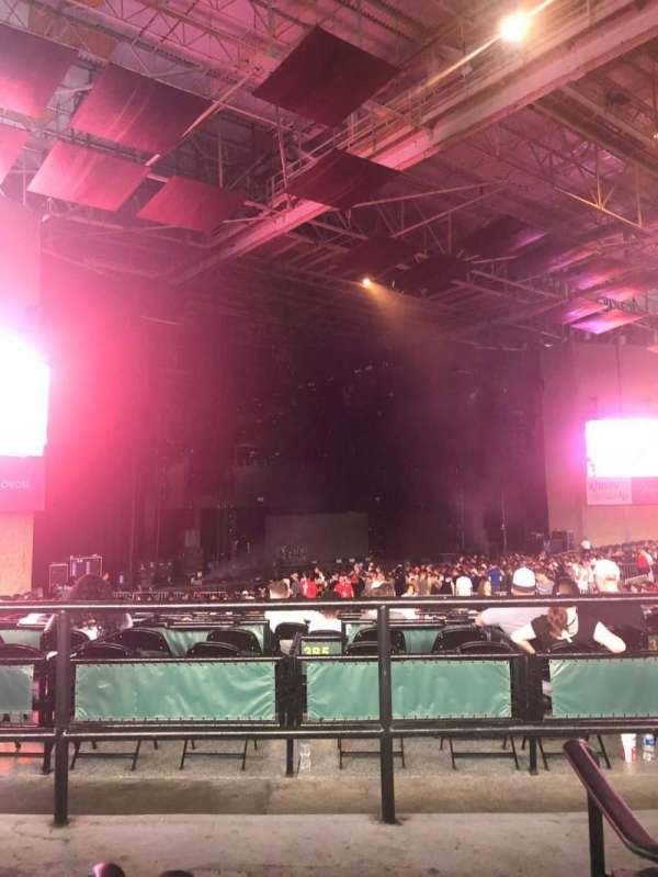 Xfinity Center, section: 8, row: C, seat: 6