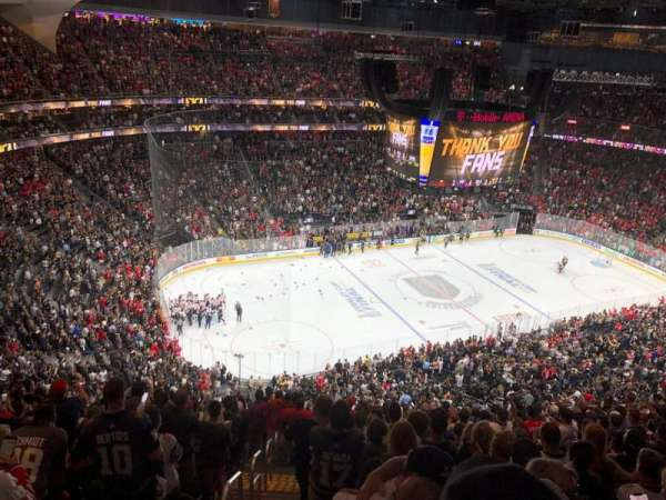 T-Mobile Arena, section: 220, row: Q, seat: 1