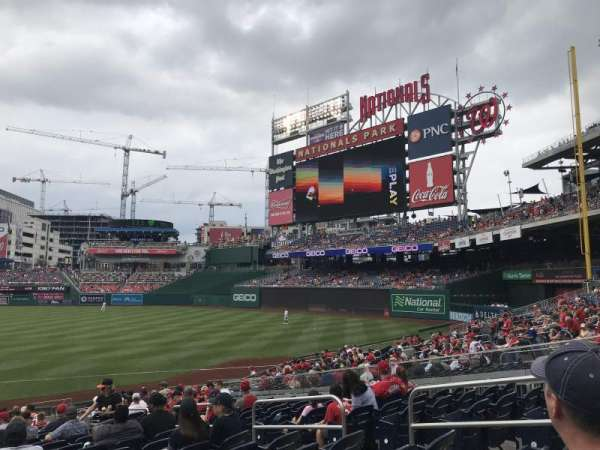 Nationals Park, section: 133, row: Z, seat: 7