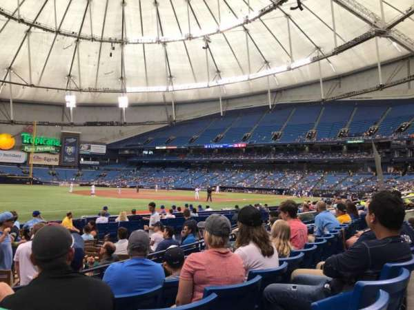 Tropicana Field, section: 129, row: L, seat: 1