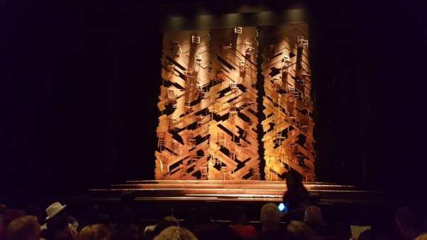 Hollywood Pantages Theatre, section: Orchestra C, row: F, seat: 106