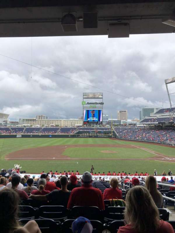 TD Ameritrade Park, section: 117, row: 29, seat: 3