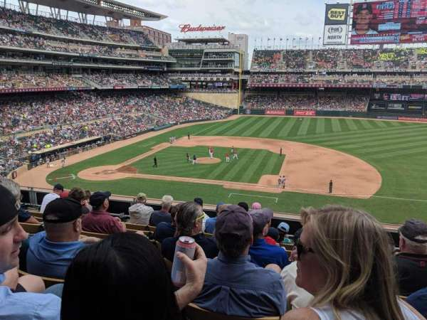 Target Field, section: B, row: 7, seat: 5