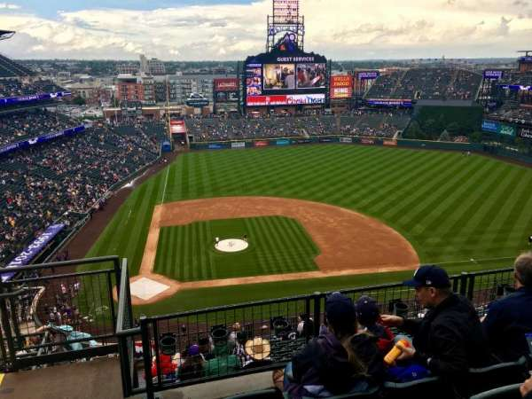 Coors Field, section: U325, row: 13, seat: 22