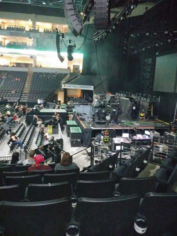 PPL Center, section: 102, row: 12, seat: 6