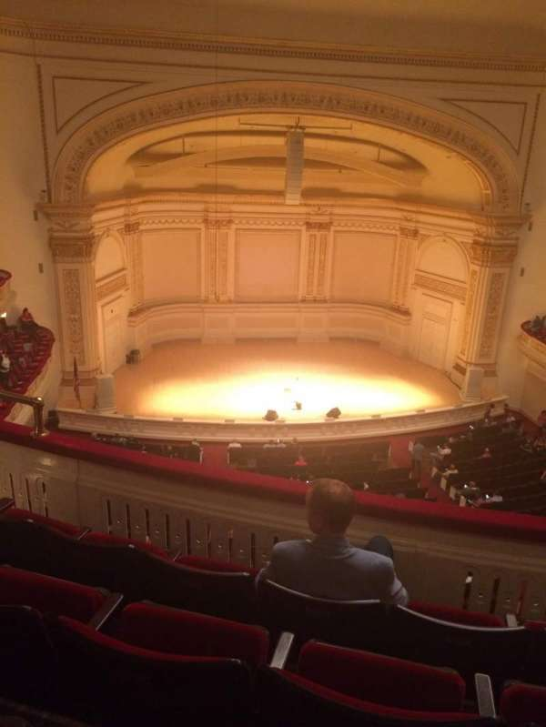 Carnegie Hall, section: DC Dress Circle, row: DD, seat: 11