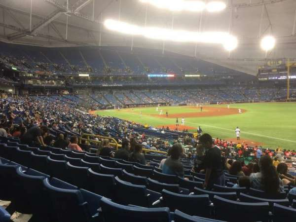 Tropicana Field, section: 138, row: JJ, seat: 11