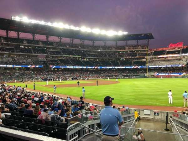 Truist Park, section: 111, row: 1, seat: 5