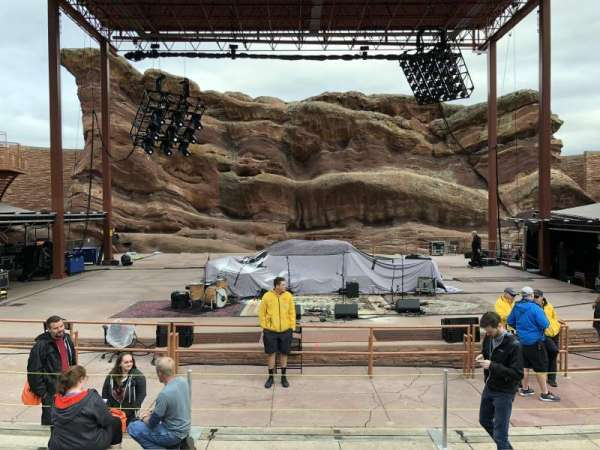 Red Rocks Amphitheatre, row: 6, seat: 50