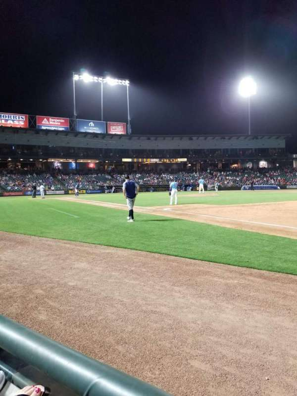 Dell Diamond, section: 125, row: 1, seat: 9