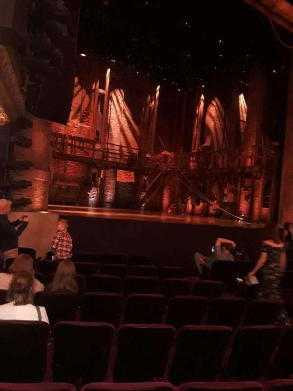 CIBC Theatre, section: Orchestra L, row: K, seat: 17-19