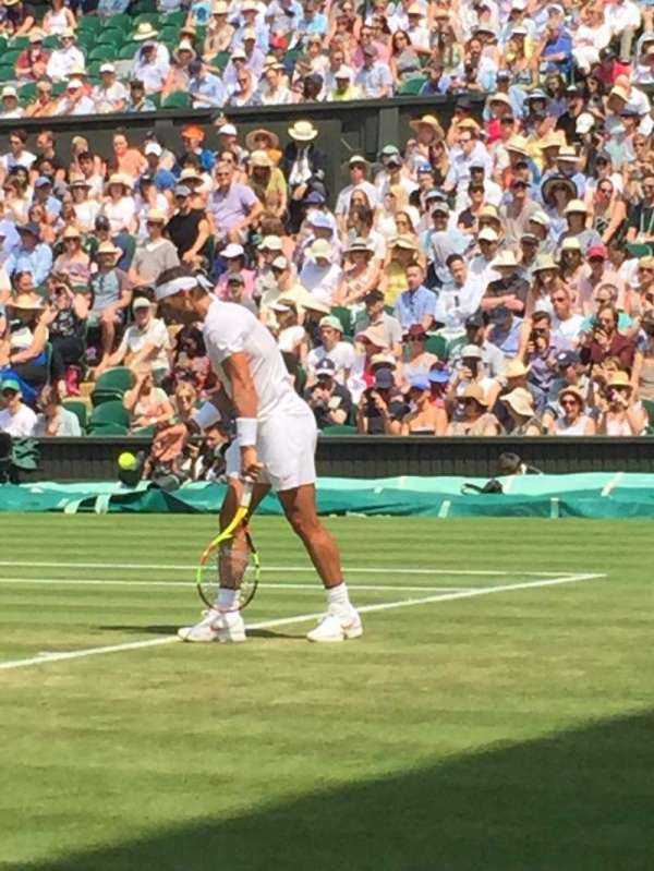 Wimbledon, Centre Court, section: 101, row: C, seat: 9