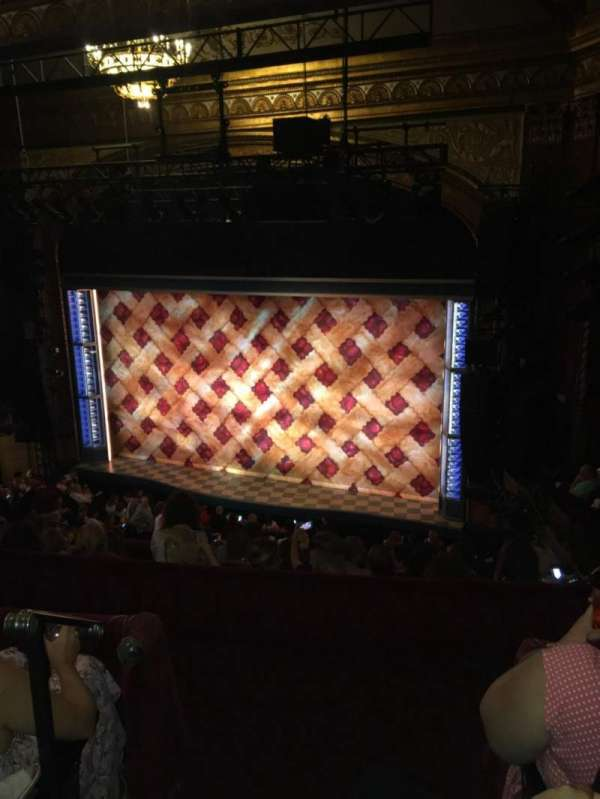 Brooks Atkinson Theatre, section: Rear mezzanine R, row: G, seat: 2