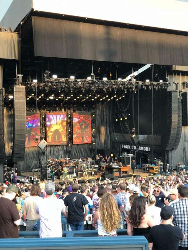 Shoreline Amphitheatre, section: 204, row: B, seat: 10