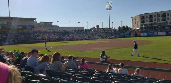Parkview Field, section: 101, row: J, seat: 3