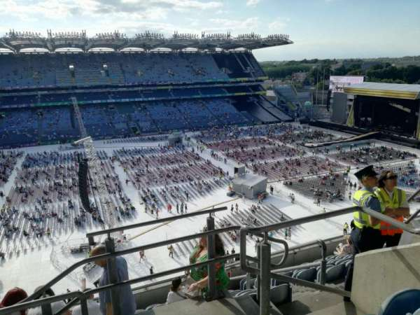 Croke park, section: Cusack upper 707, row: K, seat: 25