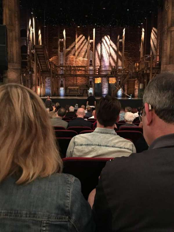 CIBC Theatre, section: Orchestra C, row: R, seat: 108