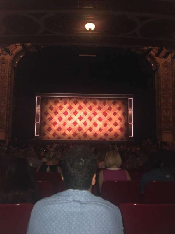 Cadillac Palace Theater, section: ORCH-C, row: U , seat: 110