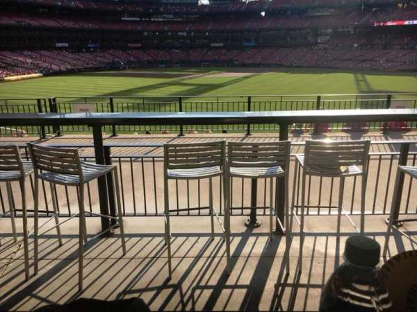 Busch Stadium, section: Homers Landing, row: B, seat: 25