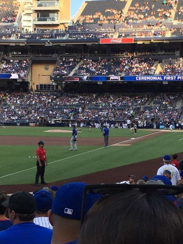 PETCO Park, section: 122, row: 16, seat: 18