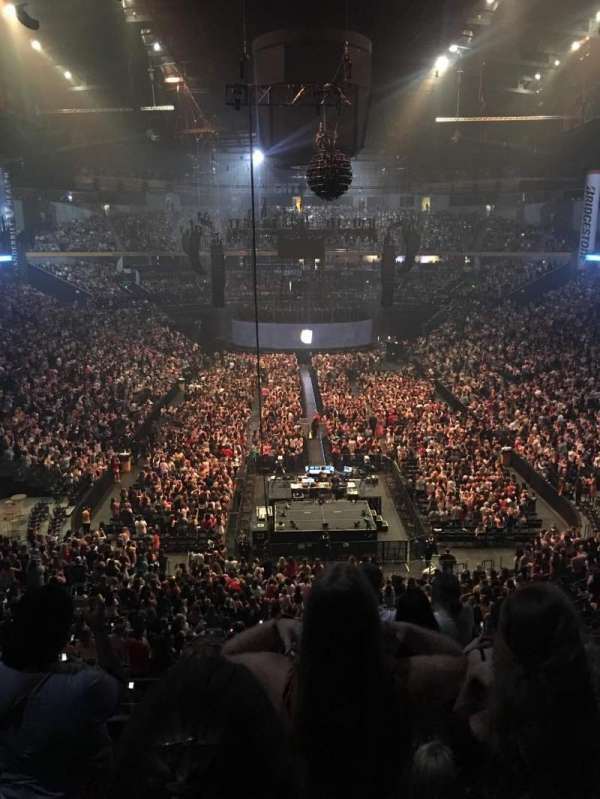 Bridgestone Arena , section: 202, row: E or F , seat: 3