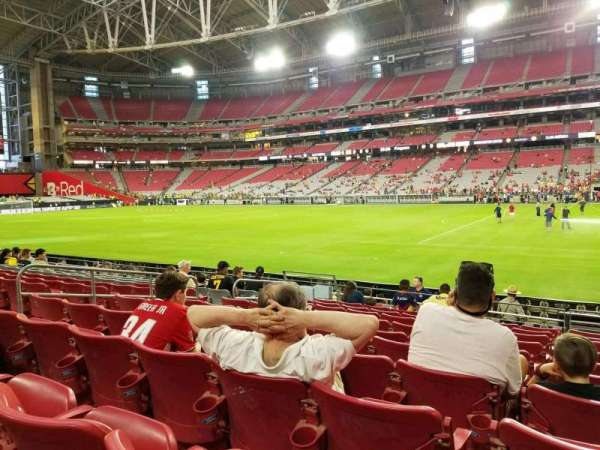 University of Phoenix Stadium, section: 125, row: 10, seat: 18