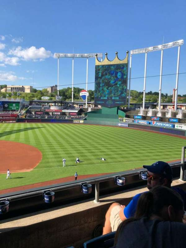 Kauffman Stadium, section: 318, row: C, seat: 3