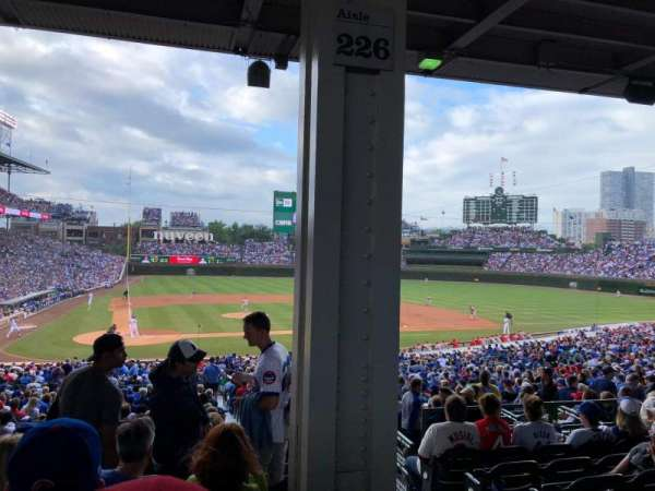 Wrigley Field, section: 221, row: 10, seat: 18