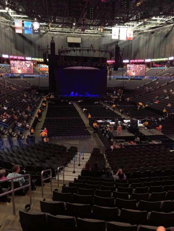 Chesapeake Energy Arena Section 101 Row U Seat 19