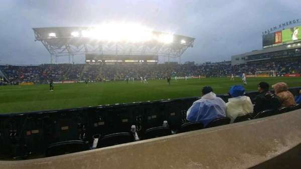 Talen Energy Stadium, section: 128, row: A, seat: 8
