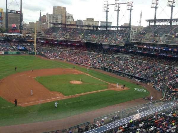 Comerica Park, section: 337, row: A, seat: 6