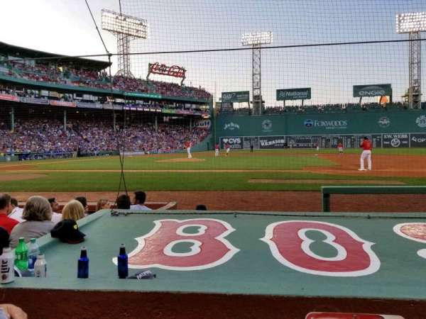 Fenway Park, section: Field Box 28, row: E, seat: 4