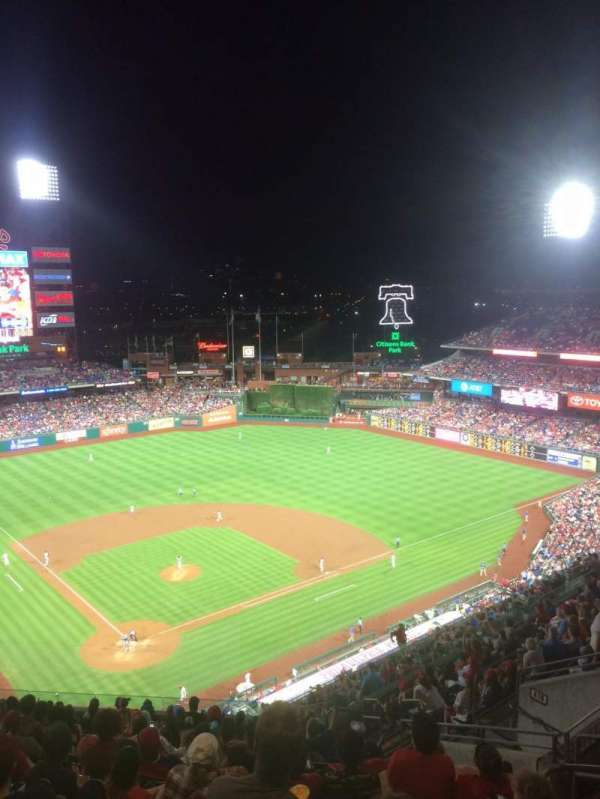 Citizens Bank Park, section: 419, row: 16, seat: 8