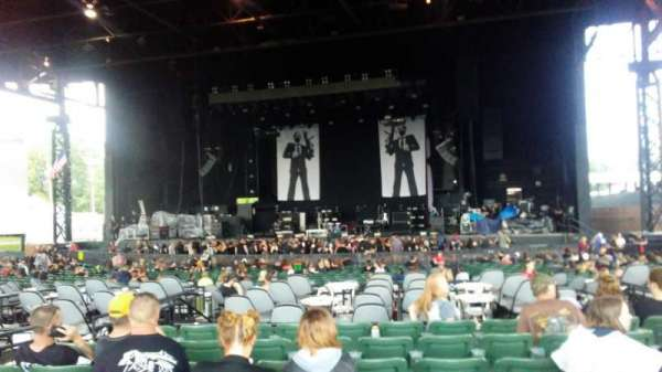KeyBank Pavilion, section: M, row: 6, seat: 9