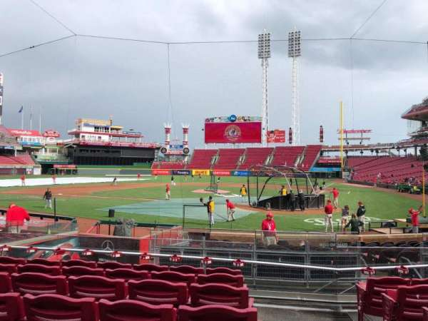 Great American Ball Park, section: 120, row: S, seat: 1