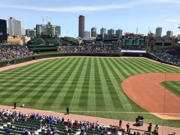 Wrigley Field, section: 308L, row: 1, seat: 2