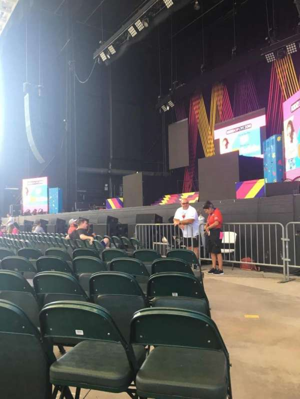 Ameris Bank Amphitheatre, section: ORCH 1, row: F, seat: 1