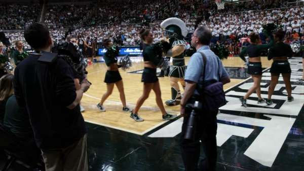 Breslin Center, section: 124, row: 2, seat: 2