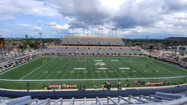 Tim Hortons Field, section: 206, row: 1, seat: 7,8