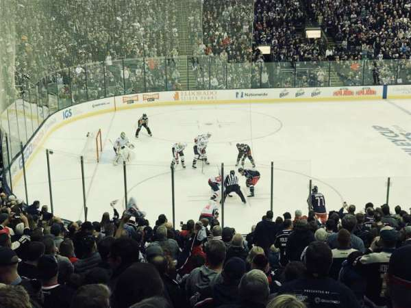 Nationwide Arena, section: 106, row: Y, seat: 1