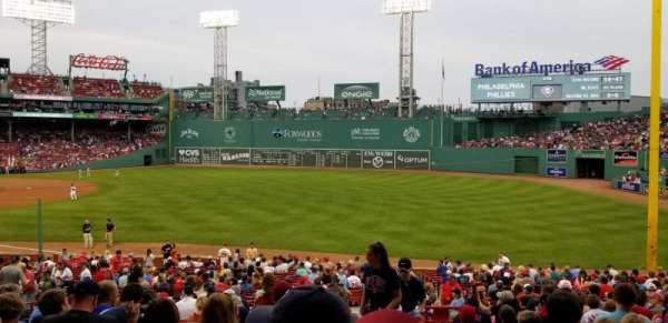 Fenway Park, section: Grandstand 9, row: 1, seat: 2