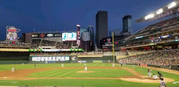 Target Field, section: 12, row: 9, seat: 7
