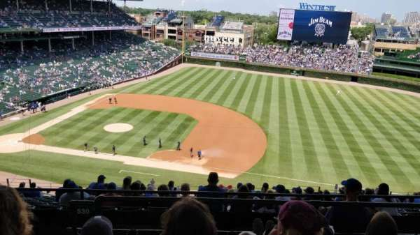 Wrigley Field, section: 530, row: 4, seat: 4