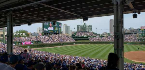 Wrigley Field, section: 211